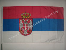 Serbia Flag 150X90cm (3x5FT) 115g 100D Polyester Double Stitched High Quality Free Shipping