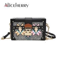 Luxury Vintage Box party purse ladies shoulder bag Lock Clutch Evening bag Mini Tote handbag Retro Crossbody Bolsa Feminina