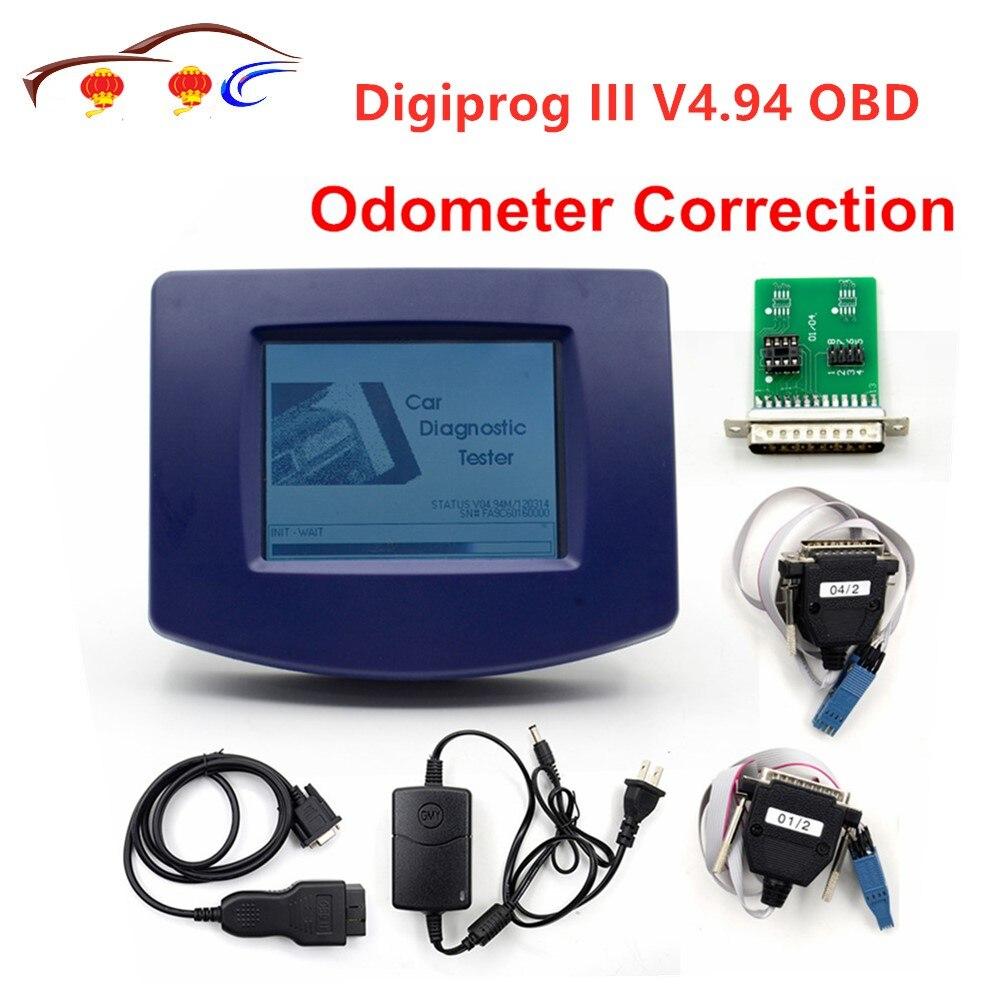 Digiprog III V4.94 Digiprog 3 avec OBD2 ST01 ST04 outil de correction d'odomètre de câble Digiprog3 en stock livraison gratuite