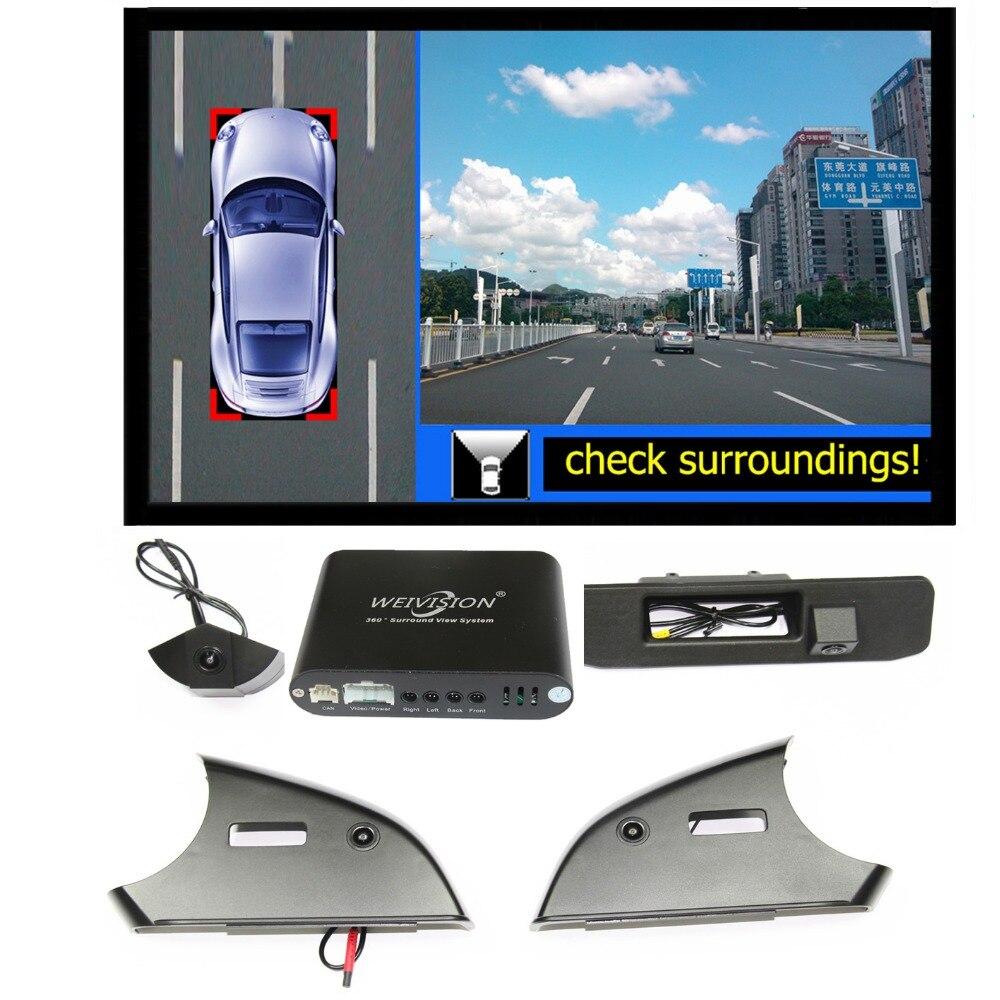360 graden vogelzicht Auto DVR Record met 4HD auto achter backup - Auto-elektronica
