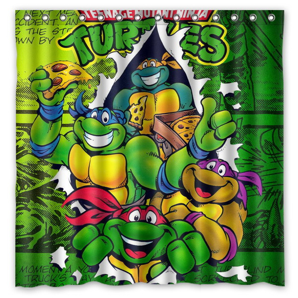 Teenage Mutant Ninja Turtles Shower Curtain Bath Curtains Mildew Resistant Polyester Bathroom With Hooks 180180cm