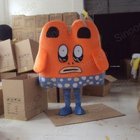 New Ghost Cartoon Adult Size Mascot Costume Fancy Dress Animal Mascot Costume Free Shipping