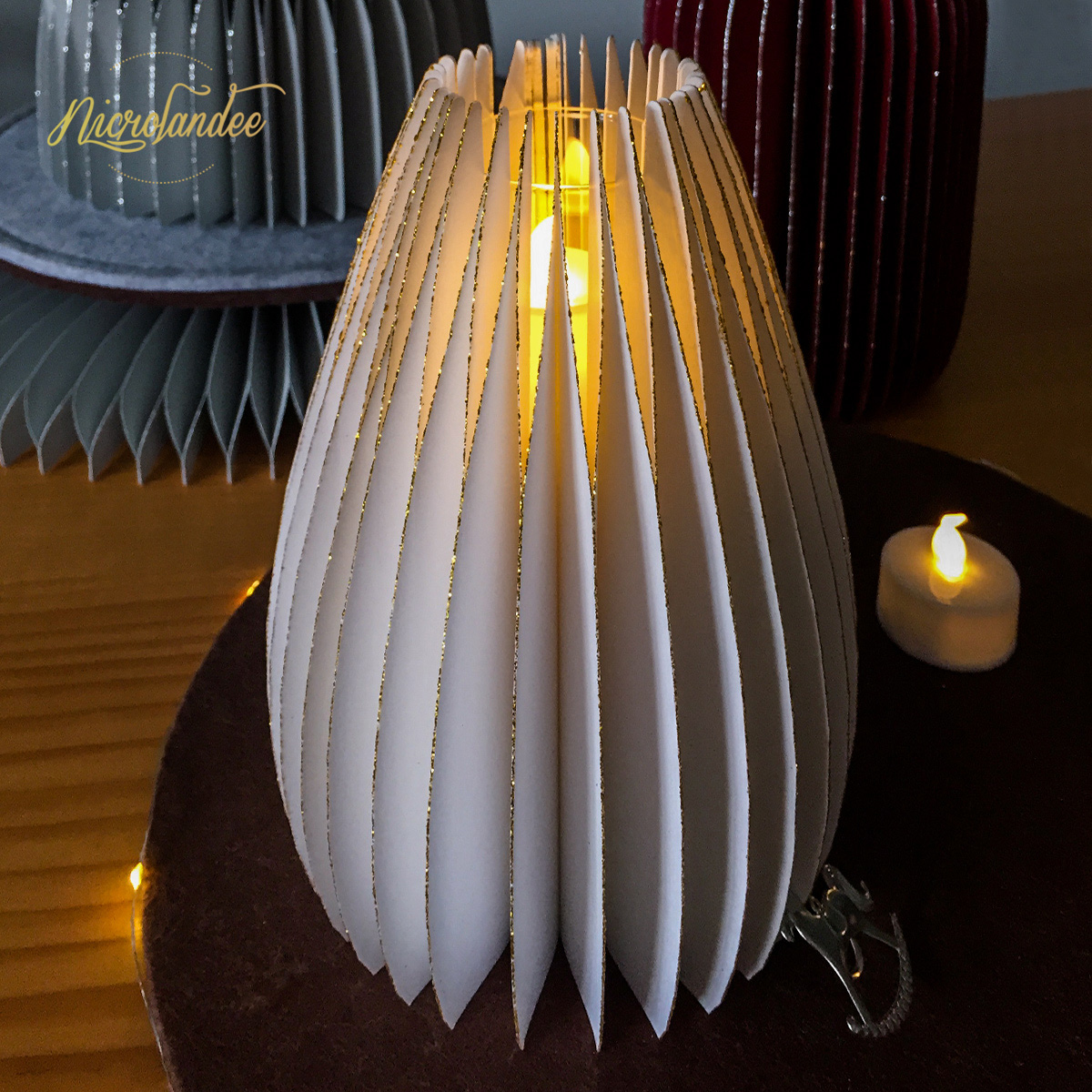 NICROLANDEE Water Droplets Shape Shiny Paper Vase Wedding Lovers Party Home New Decor Home Party Decoration DIY in Party DIY Decorations from Home Garden