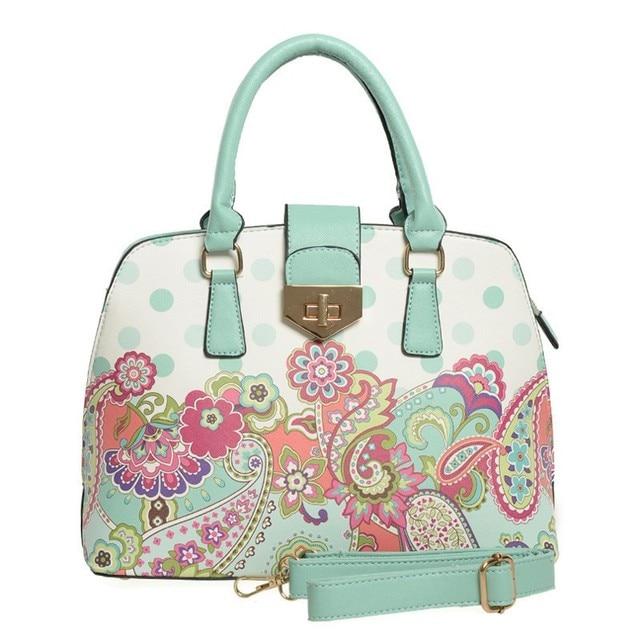 International 2017 Brand Luxury Handbags Women Bags Top Quality Floral Ladies Fashion Dots Designer Bag