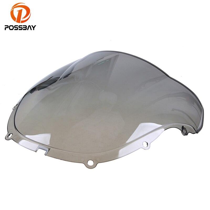 Posbay мотоцикл ветровое стекло серый двойной пузырь кафе гонщик мотоцикл на заказ велосипед для Honda F4 99-00 дефлектор