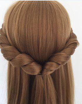 CAMMITEVER 금발 더미 마네킹 훈련 머리 헤어 스타일링 긴 머리 마네킹 미용술 마네킹 머리 헤어 모델 만든