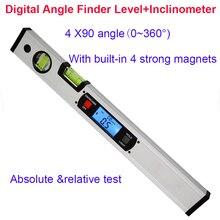 Цифровой угломер электронный уровень 360 градусов Инклинометр с магнитами уровень угол наклона линейка тестер 400 мм