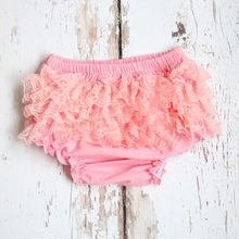 Bebê algodão plissado shorts bonito do bebê rendas bloomers flor recém-nascido fralda capa da criança 1th aniversário fotografia roupa interior calças