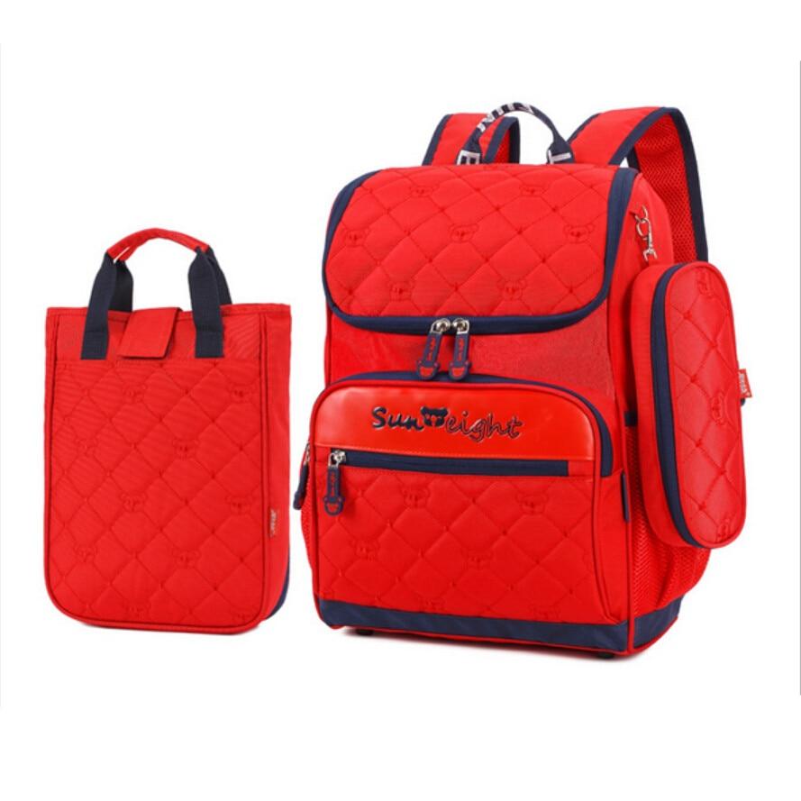 3pcs children school bags for boys kids bag boy orthopedic backpack  schoolbag blue bookbag red pen bag school backpack for girls-in School Bags  from Luggage ... 8eca0766d5381