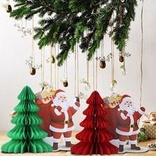 Pack Of 1pc 30cm High Christmas Ornament Santa Claus Tree Decor Hanging Xmas Decoration Honeycomb Table Centerpiece