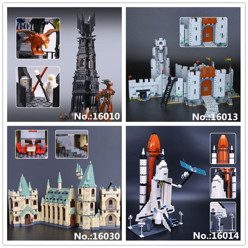LEPIN 16010 Lord Of The Rings Tower Of Orthanc 16013 Battle Of Helm' Deep 16014 Space Shuttle Expedition 16030 Hogwarts Castle