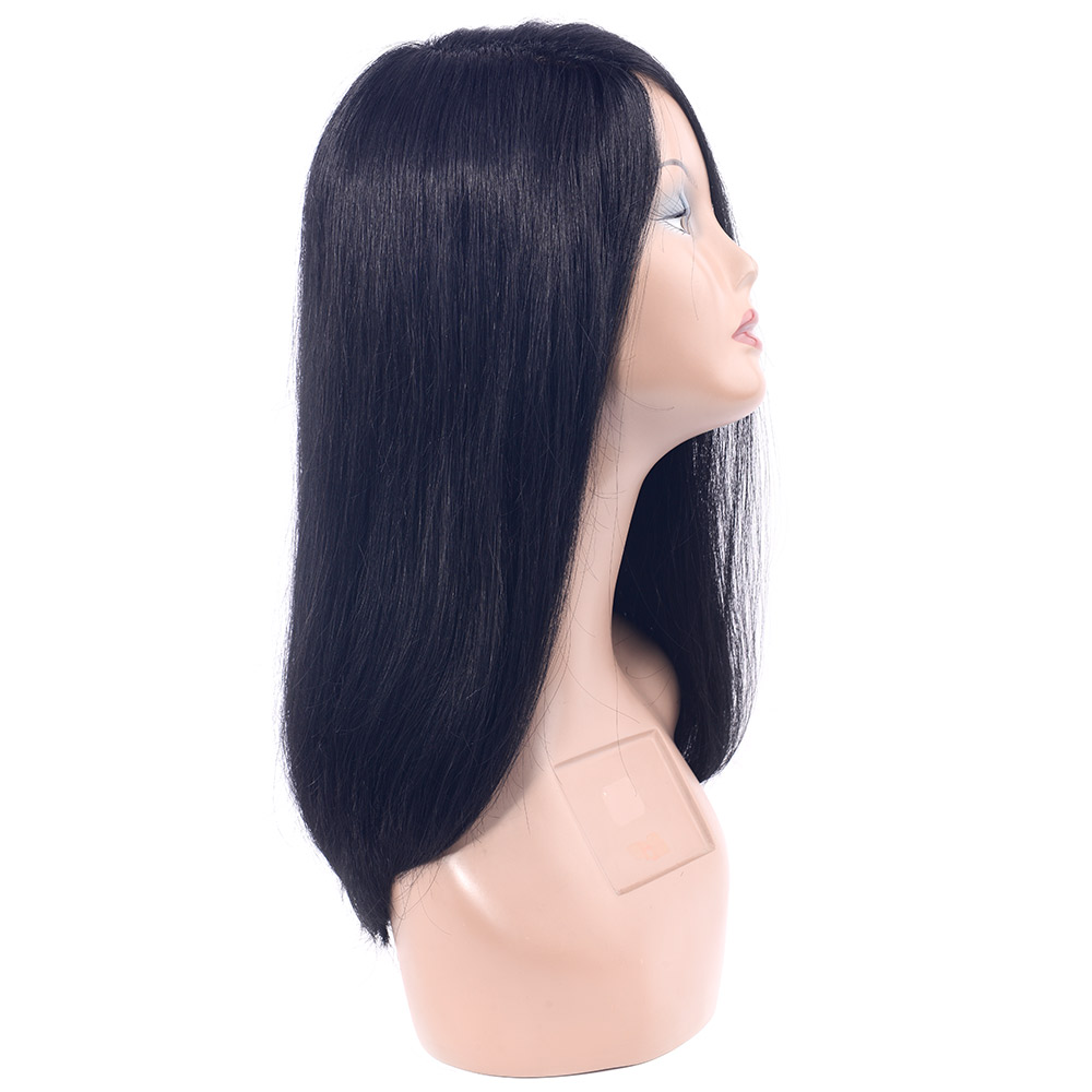 CHOCOLATE Remy Human Hair Wigs Straight Sexy Lady Wigs Pure Colors For Women 16 Inch by Part Hand Made Look Natural Hair Wigs