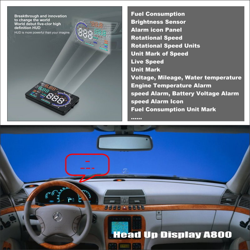 For Mercedes Benz S Class W220- Projection to windshield car's HUD head up display screen projector Decrease Frequency Look Down best price transformer a vogt for mercedes benz s class w220 before 2000 w220 mercedes w220 benz free shipping page 8