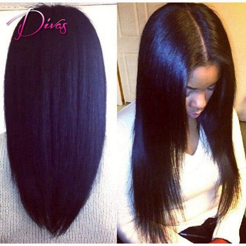 Free Shipping Long Light Yaki U Part Wig font b Virgin b font font b Brazilian