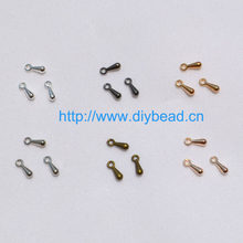 200pcs/lot 7*2mm Ending Droplets End Of Extend The Chain Gold/Silver/Brozen/Rhodium Plated For Necklace Bracelet DIY Accessories(China)