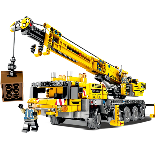 665pcs City Engineering Technic Machine Car Building Blocks Compatible Legoings Technic Enlighten Bricks Toys For Children Gifts