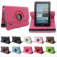 360 Degree Rotary For Samsung P3100 PU Leather Holder Case Stand Cover For Samsung Galaxy Tab 2 P3100 P3110 7.0 360 Tablet Cases