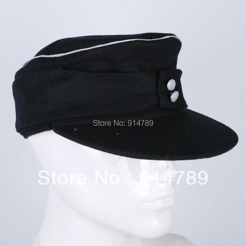 WWII GERMAN WH ELITE OFFICER PANZER WOOL FIELD CAP GRÖßE M-33190