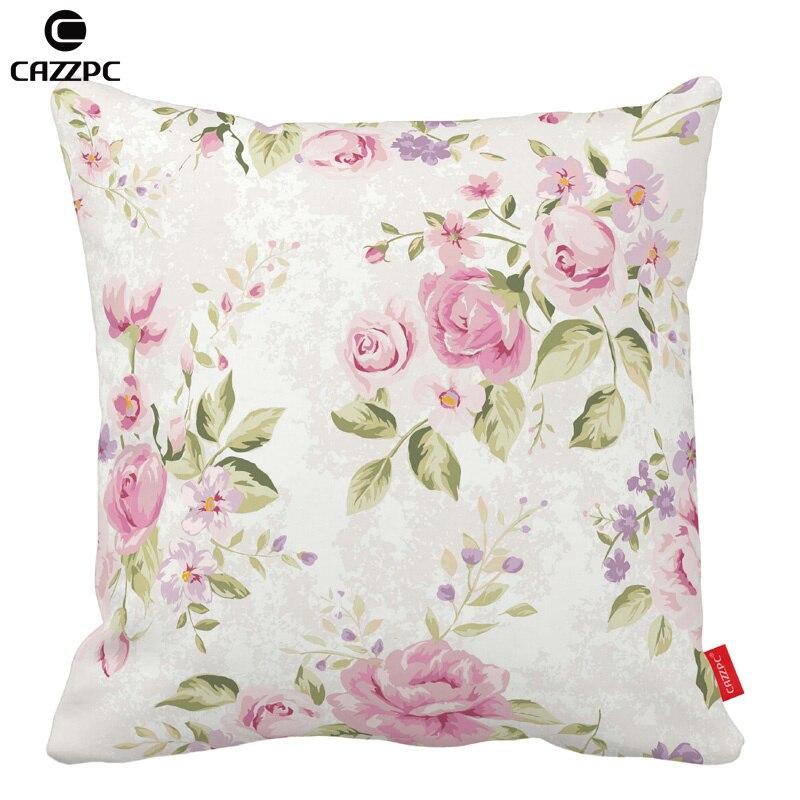 Vintage Pink Rose Elegance Flower Print Car Decorative Throw Pillowcase Pillow cases Cushion Covers Sofa Chair Home Decor