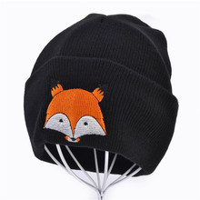 Cute Baby Hat  Winter Newborn Toddler Kids Girl&Boy Hats Soft Warm Crochet Knit Hat Fox Beanie Cap 4 Colors baby hats baby toddler kids boy girl knitted crochet rabbit ear beanie winter warm hat cap dropship ma30m30