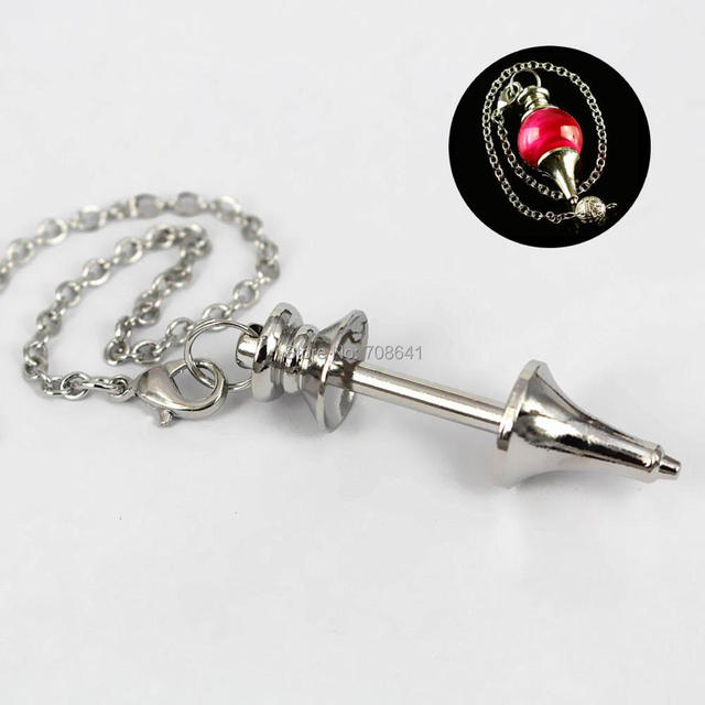 Blank screw pendulum pendant with link chain diy findings for blank screw pendulum pendant with link chain diy findings for healing dowsing reiki glass stone locket aloadofball Choice Image