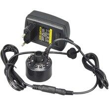Alta Calidad de Fabricante de La Niebla Ultrasónica 24 V Cabeza del Atomizador Nebulizador Nebulizador Aroma Lámpara con 12 Luces para Humidificador
