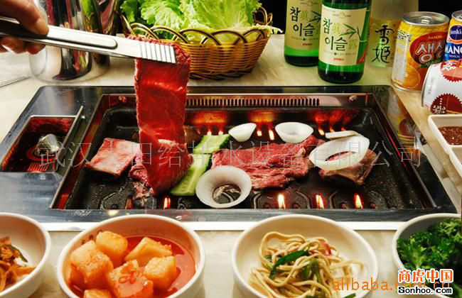 The new indoor Korean bbq grill table top stainless barbecue ...