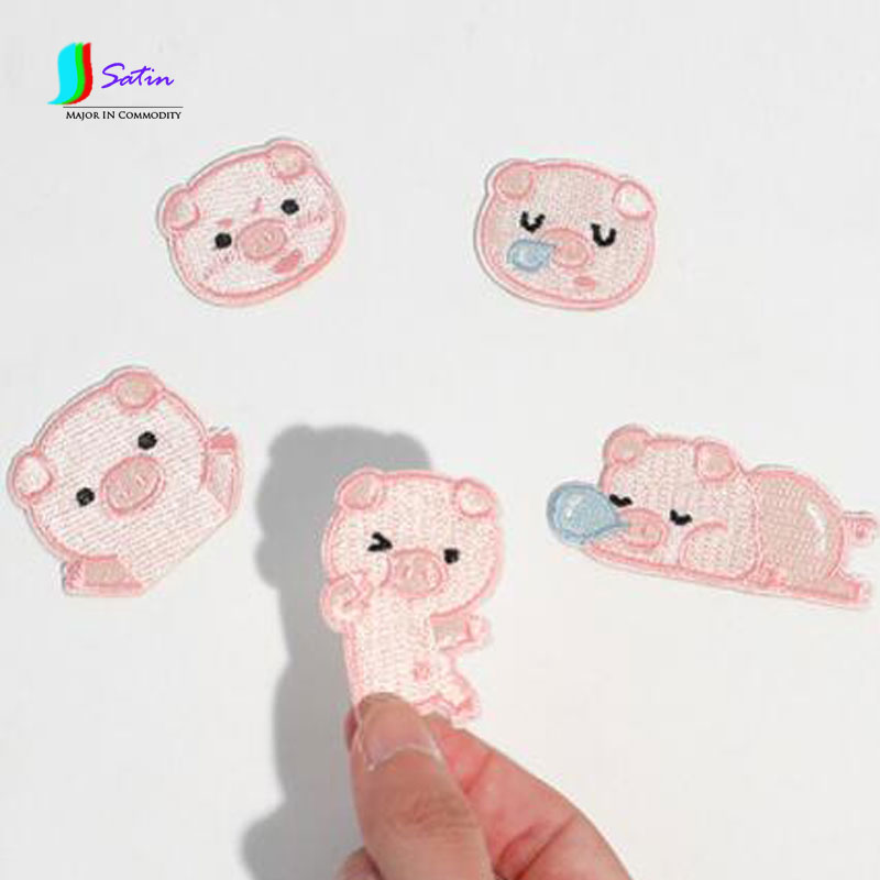 Cute Little Piglets Embroidered Animal Cloth Decals Clothing Stickers Personality Diy Notebook Decorative Sticke A0047m Diy Craft Supplies Apparel Sewing & Fabric