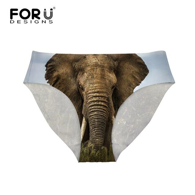 FORUDESIGNS femmes slips sans couture sous-vêtements féminins string Spandex Lingerie Animal Lion tigre imprimé entrejambe culotte de sous-vêtements S-XL