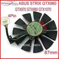 Frete Grátis T129215SU 12V 0.5A 87 milímetros Fã VGA Para ASUS Strix GTX960 GTX970 GTX980 GTX1070 Refrigerador Placa Gráfica ventilador de refrigeração