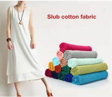 1 meter 23 solid colors to choose 150cm wide cotton linen fabric, slub fabric for dress summers garment CR-764