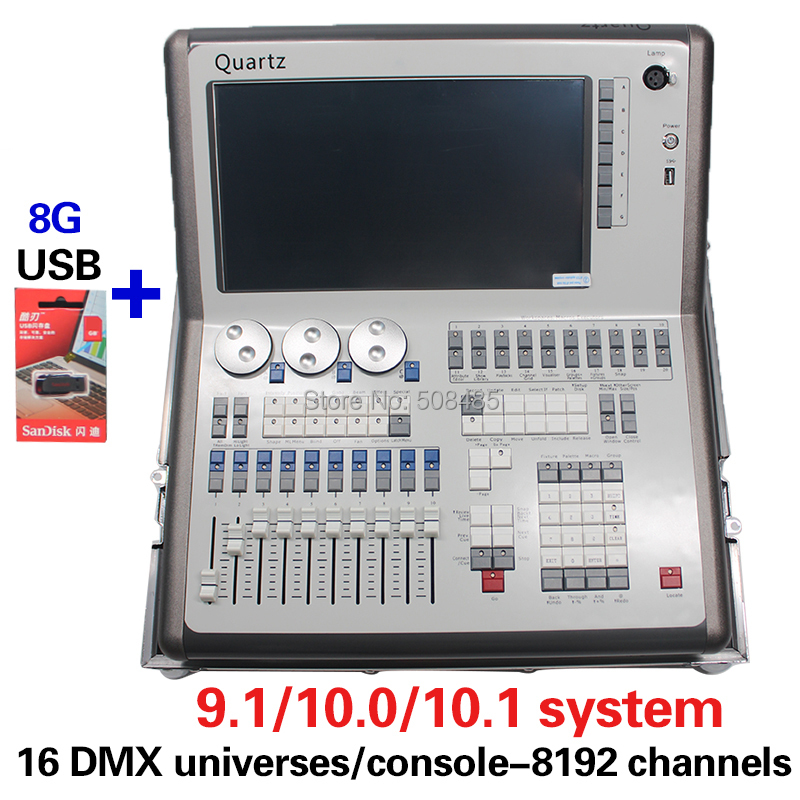 2018 Newest Compact Mobile DMX Tiger Titan Quartz Stage Lighting Controller 9.1/10.0/10.1 System Avolites Quartz Titan Mobile