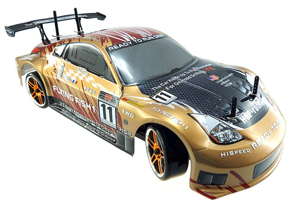 hsp rc car flyingfish 94123 4wd drifting car 1 10 scale electric power on road remote control. Black Bedroom Furniture Sets. Home Design Ideas