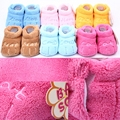 2016New Winter Baby Warm Shoes Infant Newborn 0-6M Coral Velvet First Walkers Spring Autumn Hot Sales New Brand Shoes