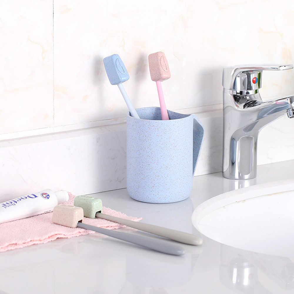 4 sztuk/zestaw pokrywa szczoteczki do zębów z tworzywa sztucznego szczotka do mycia pudełko do przechowywania podróży przenośne Case akcesoria łazienkowe łazienka Drop Ship
