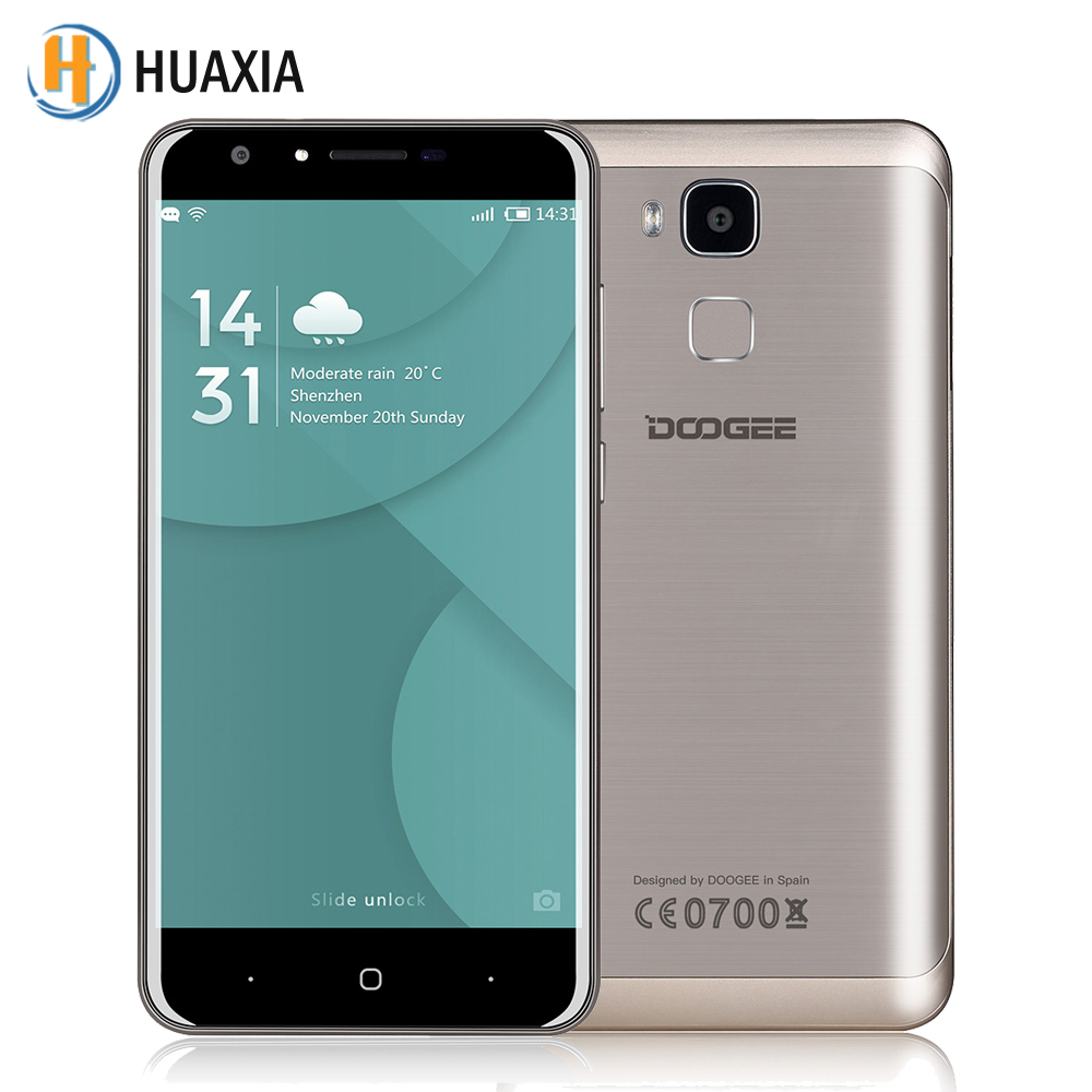Original Doogee Y6 5.5 inch 2GB RAM 16GB ROM MT6750 Octa Core Android 6.0 4G FDD-LTE Smartphone 3200mAh 13MP Mobile Cell Phone