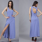 Save 2.23 on 2017 Casual Tropical Summer Style Hot Sexy Women Dress Fashion Femininas Long Dress Vestidos De Festa Summer Dress