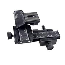 """ACCSTORE 4-way macro foco pista deslizante/close-up tiro para Canon Nikon Sony e outros DSLR com padrão 1/4 """"parafusos-804"""