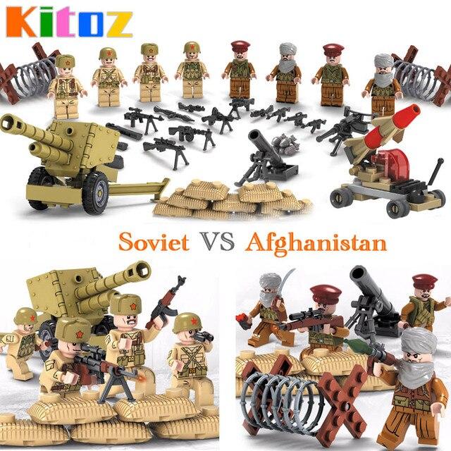 kitoz 2018 new ww2 world war ii soviet army vs afghan army soldiers figure military building