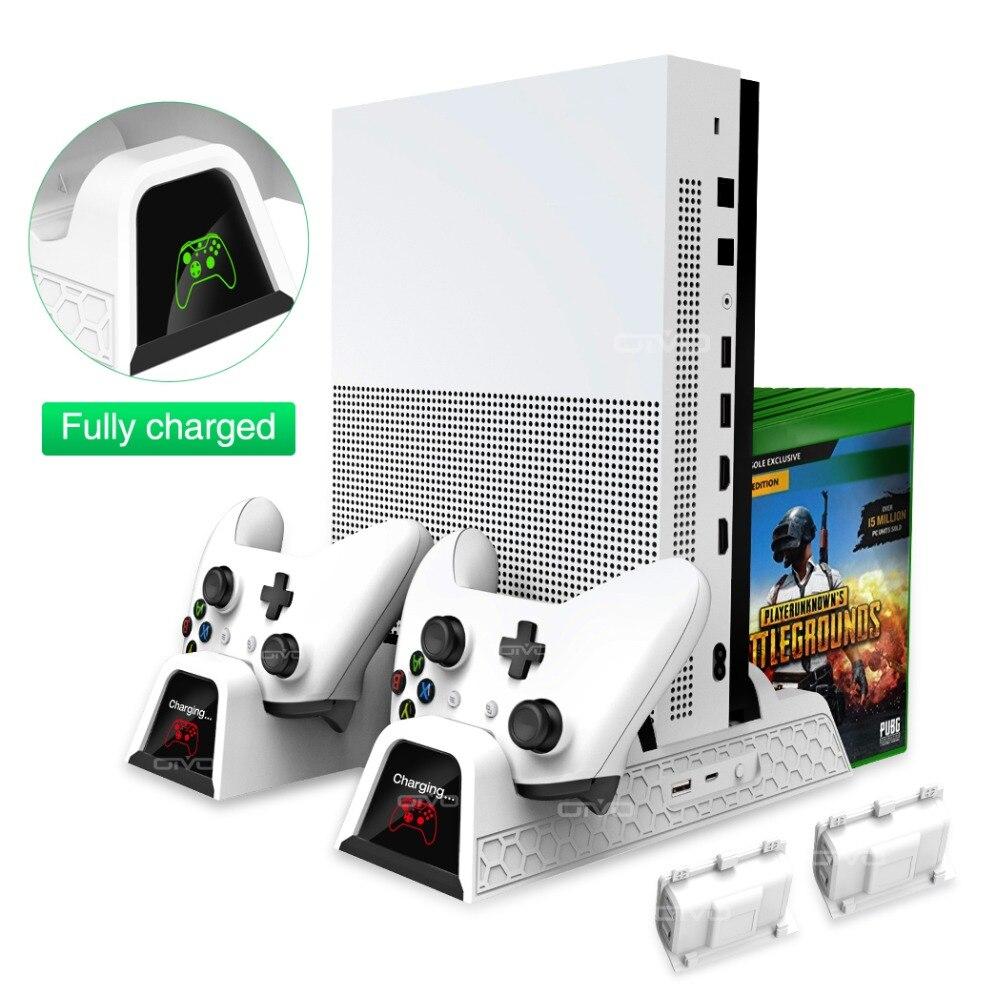 OIVO двойной контроллер зарядное устройство для Xbox ONE охлаждения вертикальная подставка игры хранения зарядки док-станция для Xbox ONE/S/X консоли