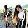 Belong a usted la calle con estilo Punk Lolita de cuero hechos a mano tirantes del arnés de cuerpo cintura cinturones
