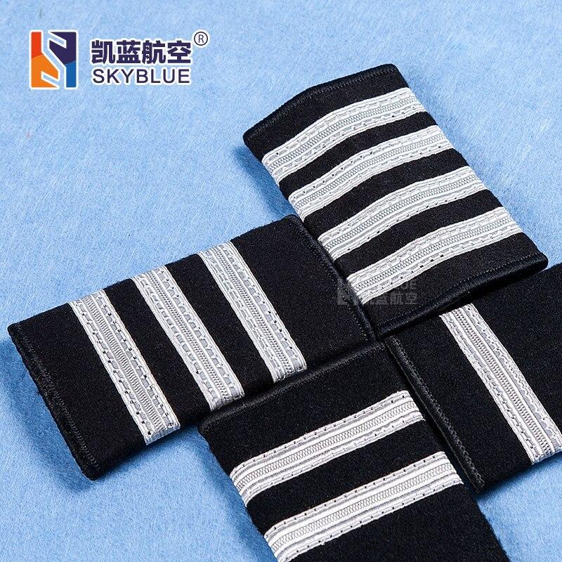 Pilot Silver Line Epaulette Shoulder-Straps Epaulet Badge for Shirt Clothes Flight Crew Aviation Lover Best Gift все цены
