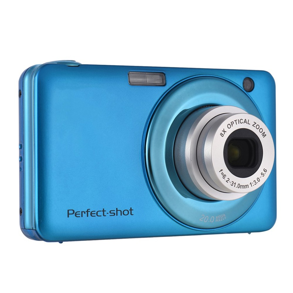 24MP Portable Colorful Compact HD 8x Focus Zooming Photo Video Record Digital Camera with JPEG Avi SD card Anti shake Kids Gifts