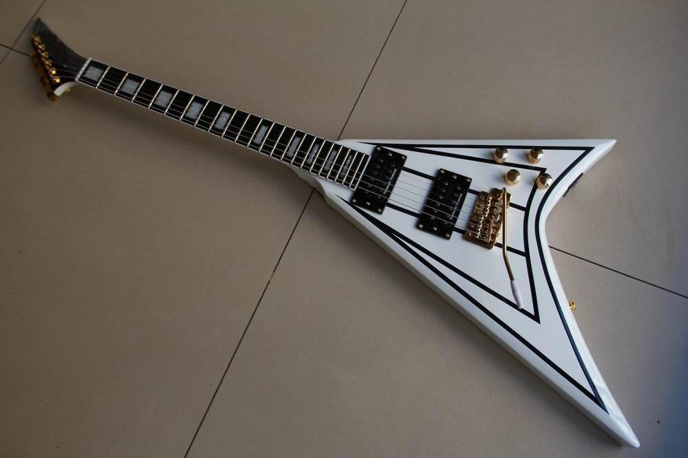 Nouveauté Randy Rhoads Jackson volant V guitare électrique en blanc livraison gratuite 111210