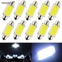 10 шт./лот, купольный светильник, 31 мм, 36 мм, 39 мм, 41 мм, автомобильный COB, 1,5 Вт, DC12V, внутренний Автомобильный светодиодный светильник, интерьерные купольные лампы, пластинчатые лампы