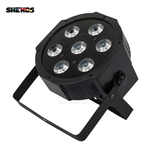 цена на 10pcs/lot LED Par 7x18W Light RGBWA+UV 6IN1 dmx stage light power in/out Profession For Disco DJ Music Party Club nightclub