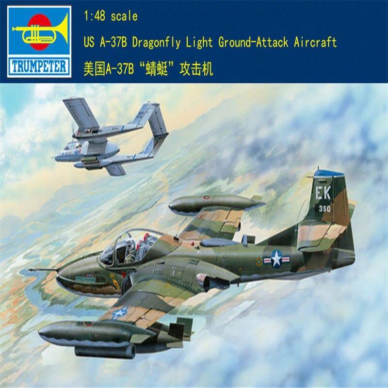 Trumpeter 1/48 US A-37B libellule lumière sol-attaque avion avion avion assembler modèle jouet pour Collection