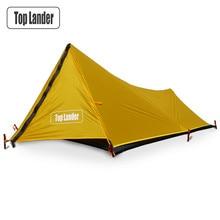 をタワー超軽量テント 1 人バックパッキング防水ソロシングルチューナー小型テントテントキャンプ 20D シリコーン屋外のキャンプのテント 1 男