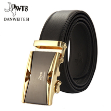 Men's Designer Automatic Buckle Leather Belt