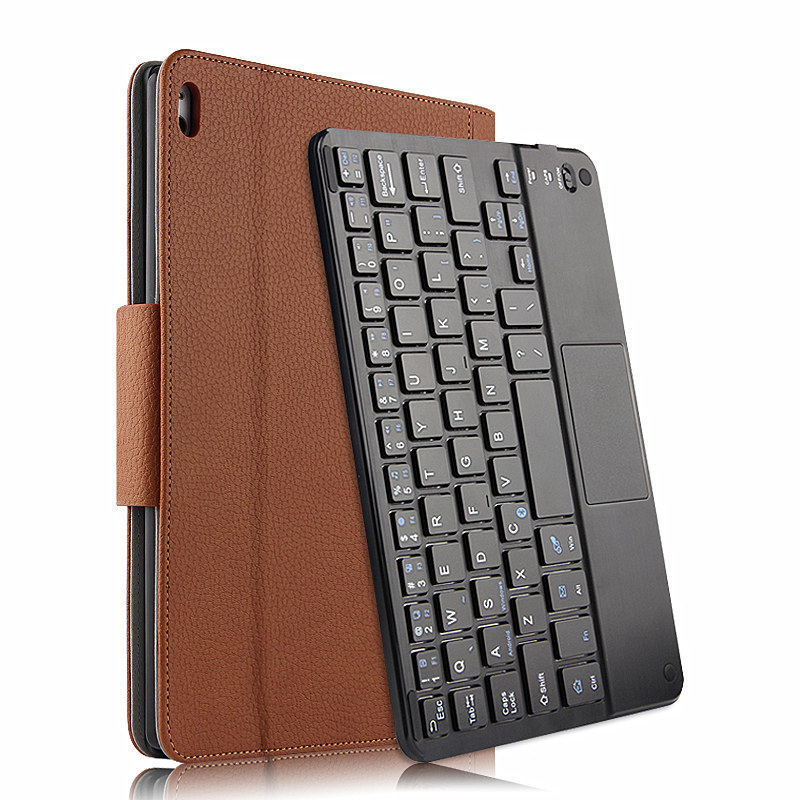 Wireless Bluetooth Keyboard +PU Leather Cover Protective Smart Case For Lenovo TAB 4 10 Plus TB-X704F / X704N 10.1 inch Tablet universal 61 key bluetooth keyboard w pu leather case for 7 8 tablet pc black